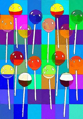 Painting - Life Is Full Of Lollipops by Florian Rodarte