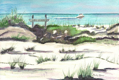 Painting - Life Is Good At The Beach by Mickey Krause