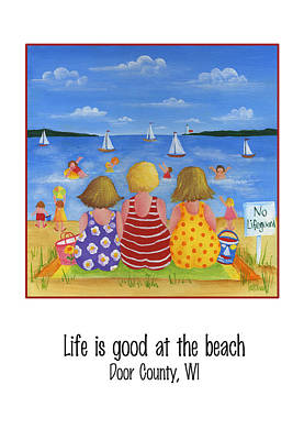 Painting - Life Is Good At The Beach. by Pat Olson