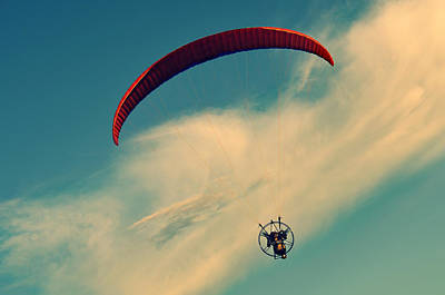 Parasailing Photograph - Life Is Good by Laura Fasulo