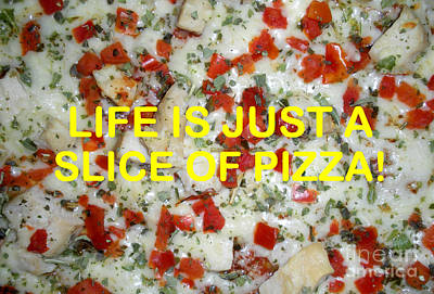 Animal Watercolors Juan Bosco - Life Is Just A Slice Of Pizza by Joseph Baril