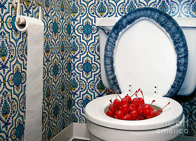 Fruit Photograph - Life Is Just A Toilet Bowl Of Cherries  by Amy Cicconi