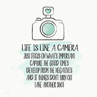 Cameras Painting - Life Is Like A Camera by Jo Moulton