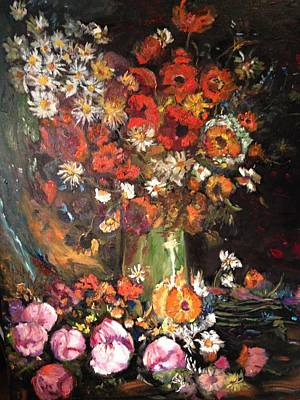 Painting - Life Is Like A Vase Of Flowers by Belinda Low