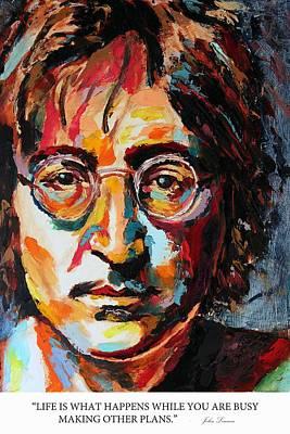 Derek Russell Wall Art - Painting - Life Is What Happens While You Are Busy Making Other Plans John Lennon by Derek Russell
