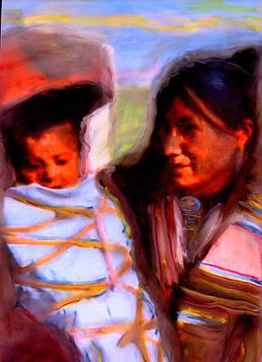 Navajo Children Painting - Life Journies by FeatherStone Studio Julie A Miller