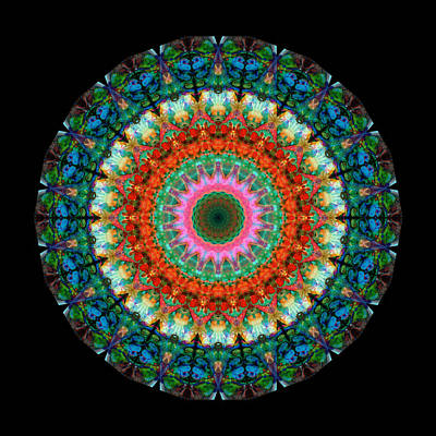 Circle Painting - Life Joy - Mandala Art By Sharon Cummings by Sharon Cummings