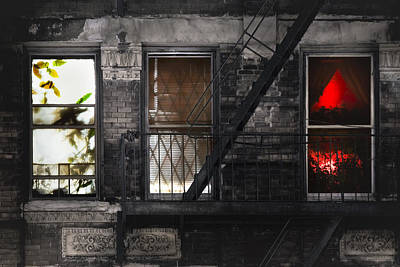 Photograph - Life Learning And Love - Three Windows And A Story by Gary Heller