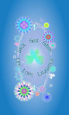 Life Love Laughter Art Print