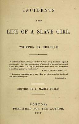 Book Title Painting - Life Of A Slave Girl, 1861 by Granger