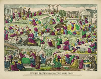 Life Of Christ C. 1880 Art Print