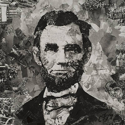 Abe Mixed Media - Life Of Lincoln by Claire Muller