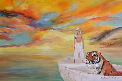 Pi Painting - Life Of Pi by Mike Paget