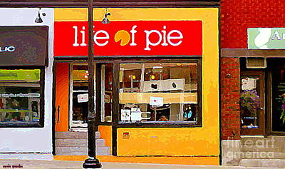 Painting - Life Of Pie Bake Shop Bank St Old Ottawa Storefronts Street Scenes Glebe Paintings Carole Spandau by Carole Spandau