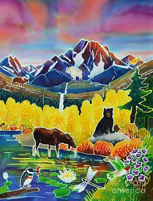 Glacier National Park Painting - Life Of The Mountains by Harriet Peck Taylor