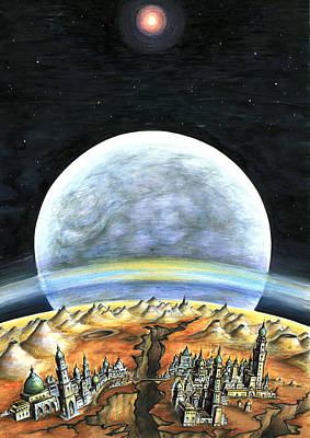 Painting - Life On Mars 2299 - Space Art by Art America Gallery Peter Potter