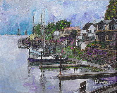Painting - Alameda Life On The Estuary by Linda Weinstock