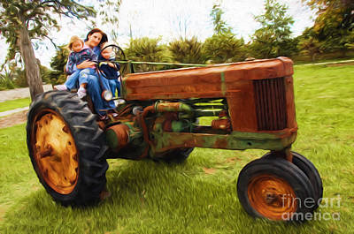 Photograph - Life On The Old Family Tractor by Andee Design