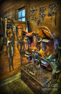 Life On The Ranch - Tack Room Art Print by Lee Dos Santos
