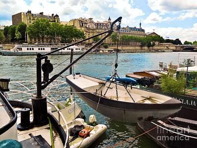 Life On The Seine Art Print by Lauren Leigh Hunter Fine Art Photography