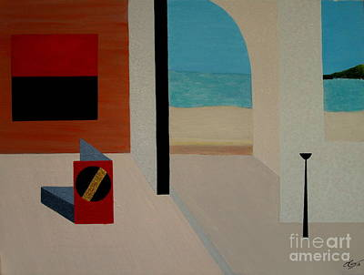 Caribbean Abstract Painting - Life One And Two by Bill OConnor