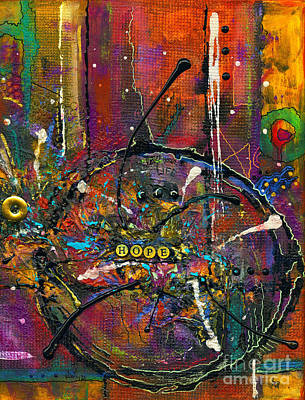 Mixed Media - Life Outside The Circle by Angela L Walker