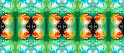 Kaleidoscope Painting - Life Patterns 1 - Abstract Art By Sharon Cummings by Sharon Cummings