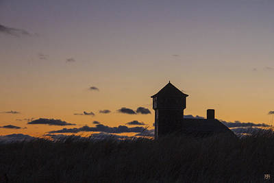 Photograph - Life Saving Station At Dawn by John Meader