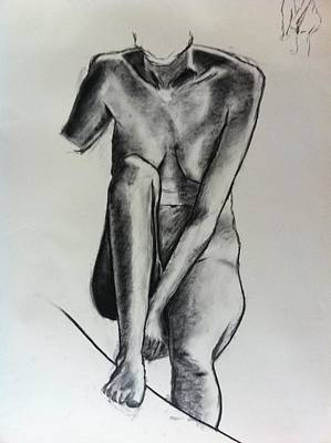 Nudes Drawing - Life Study by Michelle Deyna-Hayward
