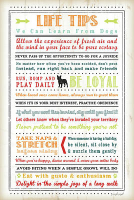 Life Tips - Dog Art Print
