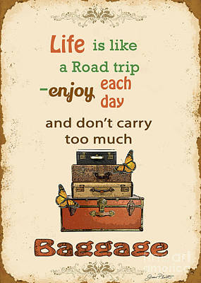 Life Typography-baggage Original by Jean Plout
