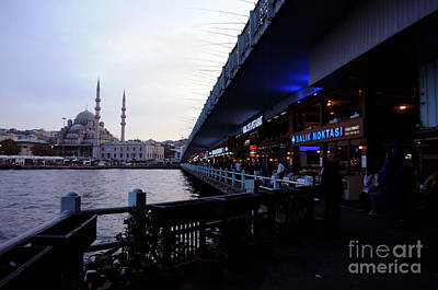 Photograph - Life Under Galata Bridge by Haleh Mahbod