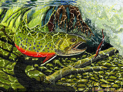 Painting - Life Under The Brook by Carey MacDonald