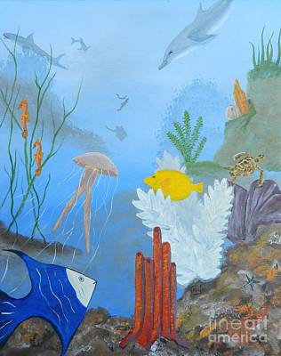 Painting - Life Under The Ocean Sea by Tanja Beaver
