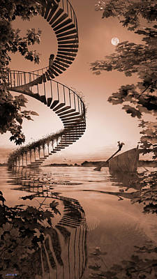 Digital Art - Life Without Stairs by Shinji K
