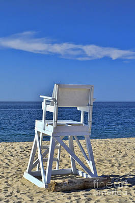 Photograph - Lifeguard Chair by Allen Beatty