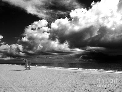 Lifeguard Chair Clouds Art Print