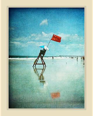 Lifeguard Flag Art Print by Linda Olsen