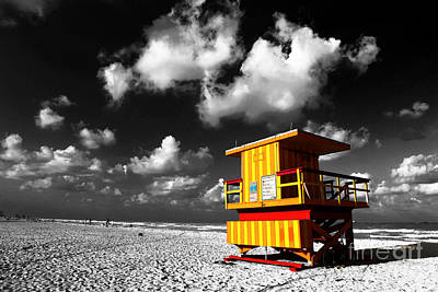 Photograph - Lifeguard Fusion South Beach by John Rizzuto