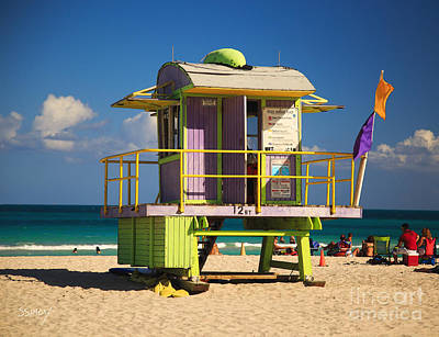 Photograph - Lifeguard Hut by Sally Simon