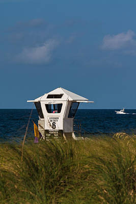 Photograph - Lifeguard On Duty by Ed Gleichman