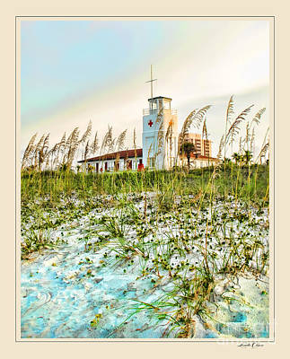 Lifeguard Station At Dusk Art Print