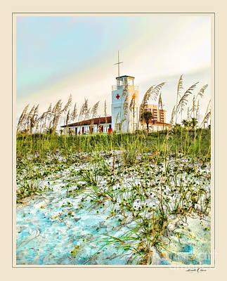 Lifeguard Station At Dusk Art Print by Linda Olsen