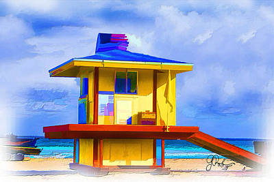 Painting - Lifeguard Station by Gerry Robins