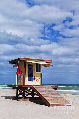 Lifeguard Station In Hollywood Florida Art Print