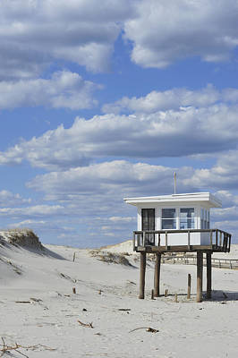 Photograph - Lifeguard Station Island Beach State Park Nj by Terry DeLuco