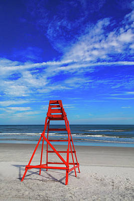 Us State Photograph - Lifeguard Station, Jacksonville  Beach by Diane Macdonald