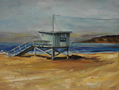 Painting - Lifeguard Station Twenty Two by Lindsay Frost