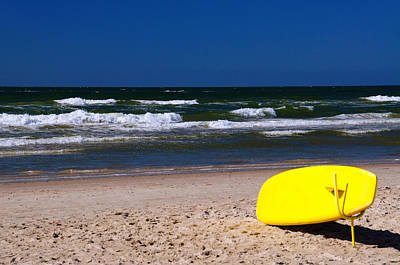 Sun Photograph - Lifeguard Surf Board by Gry Thunes