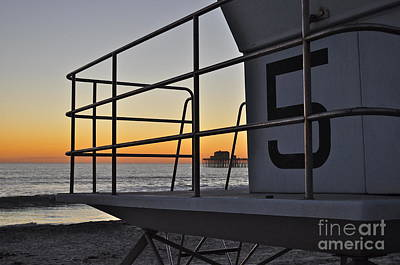 Photograph - Lifeguard Tower 5  by Bridgette Gomes